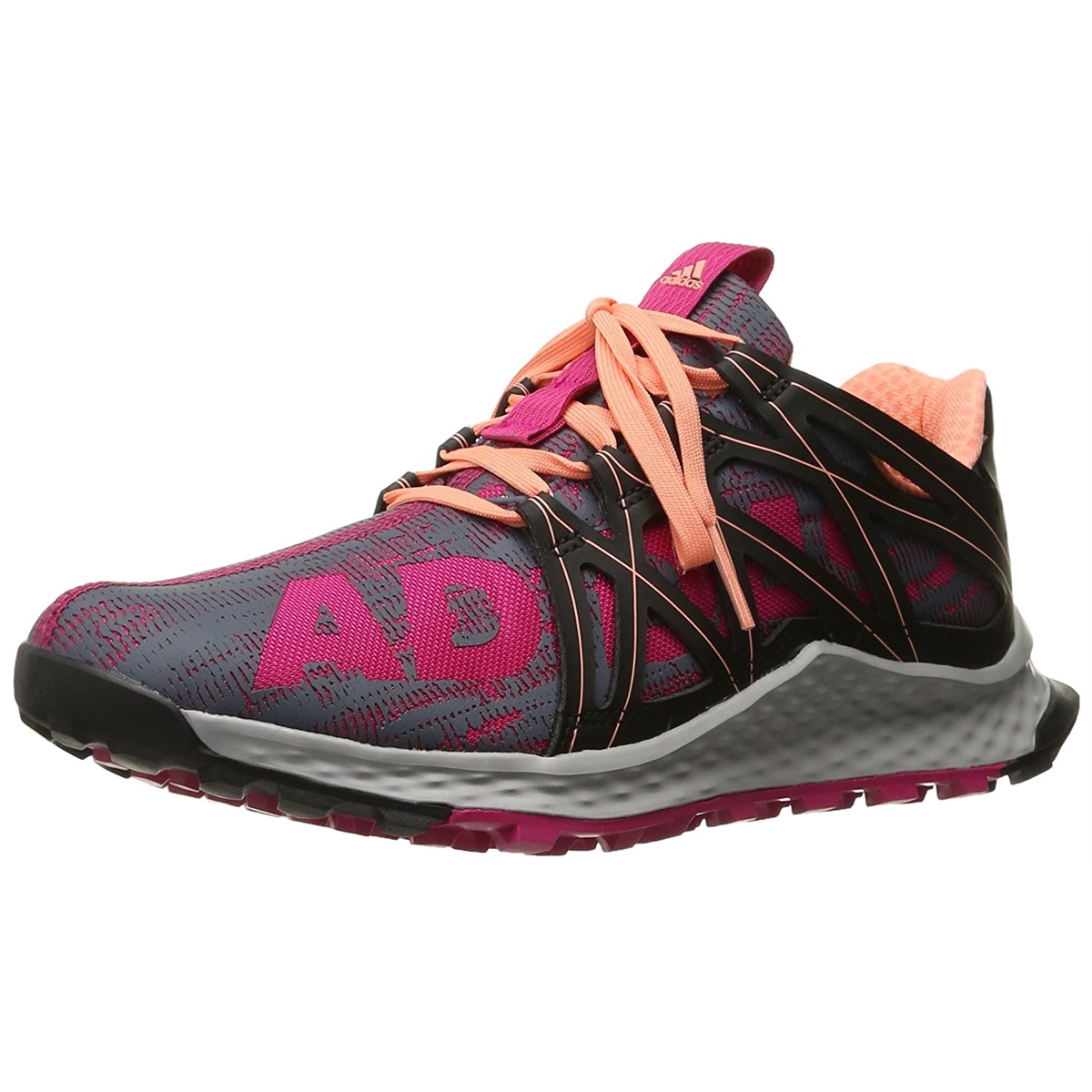 Adidas Women Athletic Shoes Vigor Bounce W Running Shoes Bold Pink black